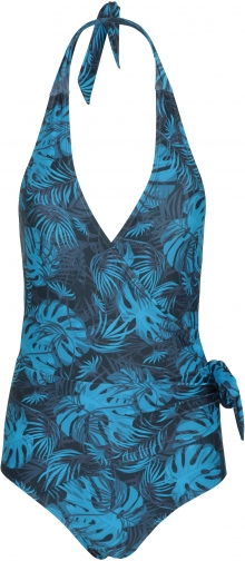 Mountain Warehouse Wrap-Over Womens Halter Neck - Blue Swimsuit