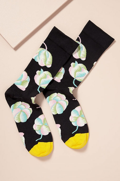 Anthropologie Bonne Maison Pavot Floral Sock