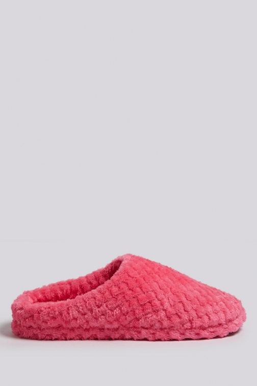 Forever21 Forever 21 Quilted Faux Fur , Pink Slippers