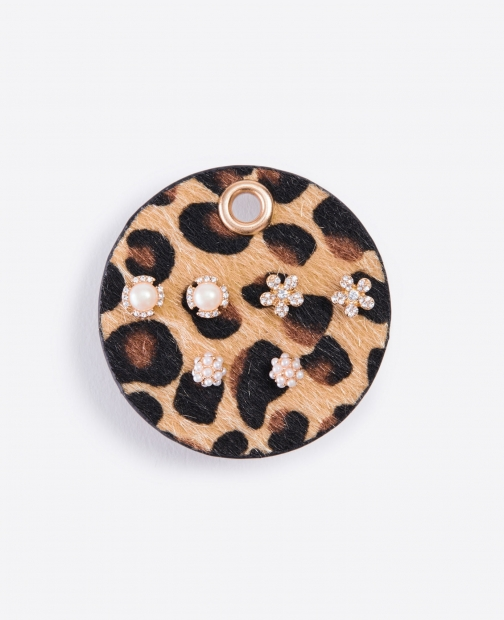 Ann Taylor Animal Print Stud Earring Set Jewellery