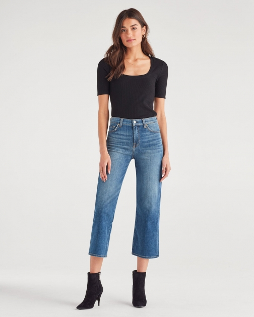 7 For All Mankind Women's Cropped Wideleg Charleston Trouser