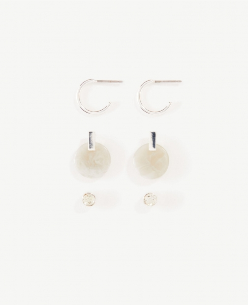 Ann Taylor Pearlized Stud Earring Set Jewellery