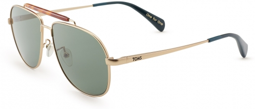 Toms Booker Satin Gold Polarized Sunglasses
