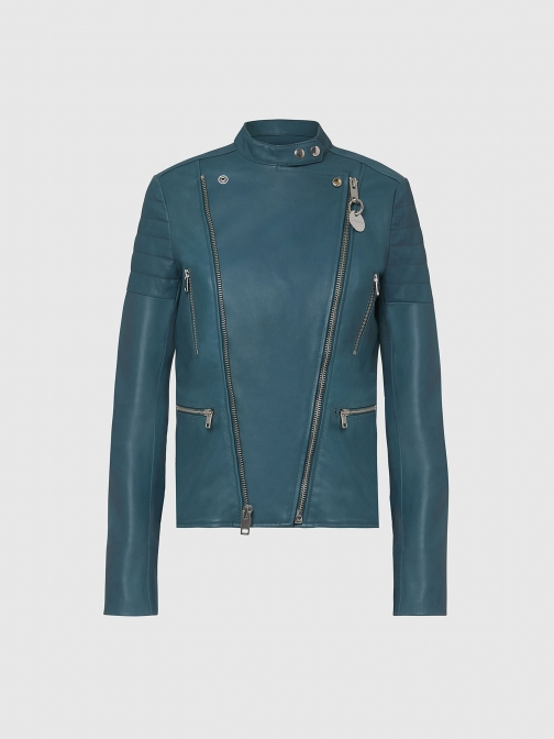 Diesel 0IAXC - Green - XXS Leather Jacket
