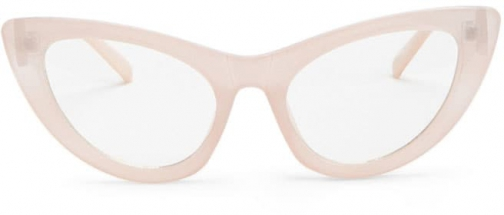 Forever21 Forever 21 Solid Cat-Eye Readers , Pink/clear Eyewear