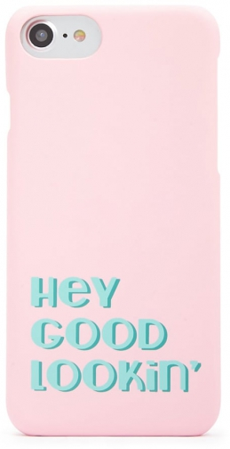 Forever21 Forever 21 Hey Good Lookin Graphic Phone For IPhone 6/7/8 , Pink/multi Case