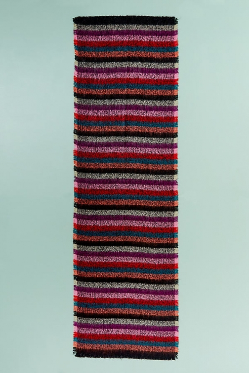 Anthropologie Mandie Striped-Boucle - Assorted Scarf