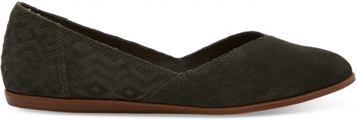 Toms Forest Suede Diamond Embossed Women's Jutti Shoes Flats