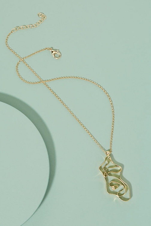 Anthropologie Nectar Nectar Whirlpool Necklace