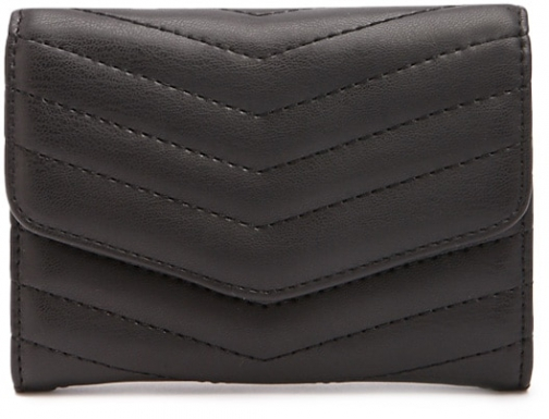 Forever21 Forever 21 Quilted Envelope Coin Black Purse