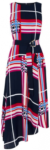 Karen Millen Oversized-Check Maxi Dress