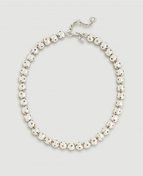 Ann Taylor Jeweled Ball Necklace