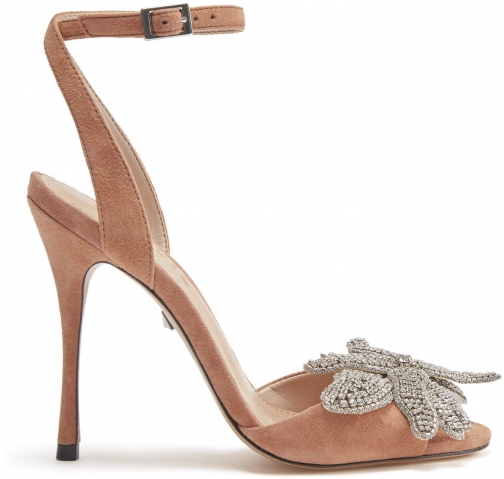Schutz Shoes Ayanne Sandal - 5 Toasted Nut Suede Sandals
