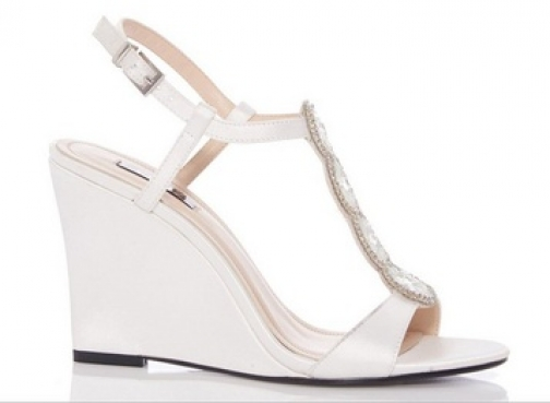 Dorothy Perkins Womens *Quiz White Emellished - White, White Wedge