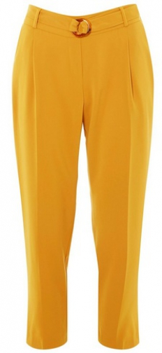 Dorothy Perkins Yellow Belted Tapered Trouser