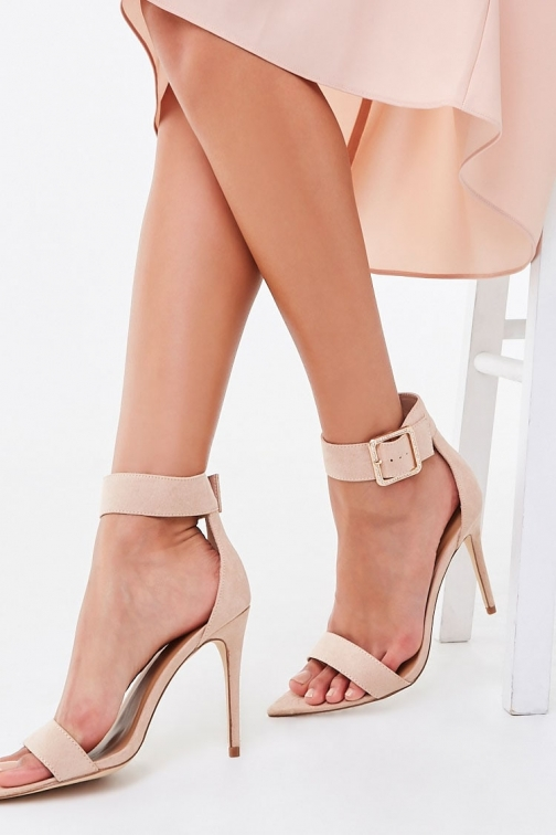 Forever21 Forever 21 Faux Suede Stiletto Heels , Nude Shoes
