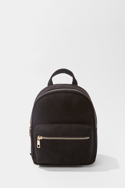 Forever21 Forever 21 Faux Suede , Black Backpack