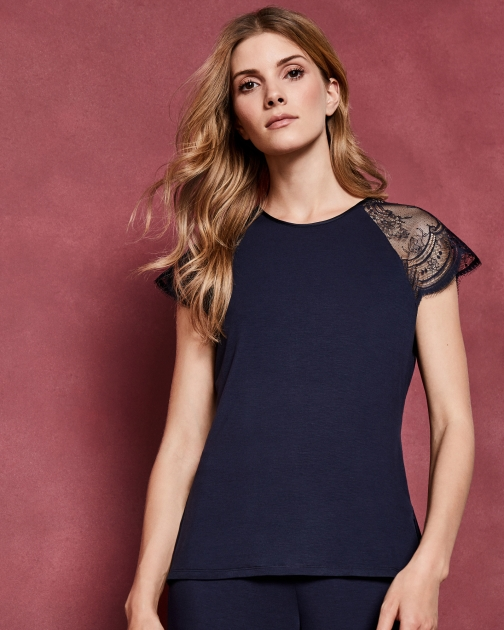 Ted Baker Lace Sleeve Detail Top Pyjama