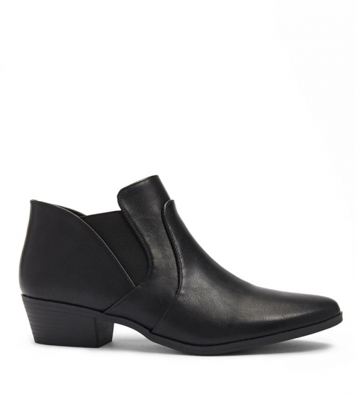 Forever21 Forever 21 Qupid Faux Leather Booties , Black Boot