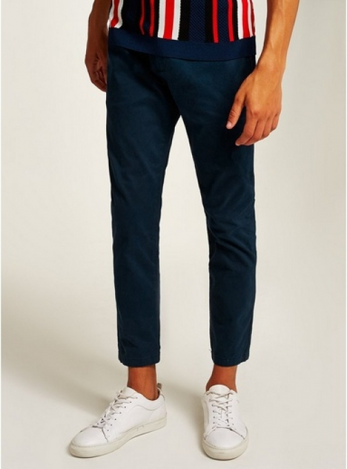 Topman Mens Blue Navy Woven Joggers, Blue Athletic Pant