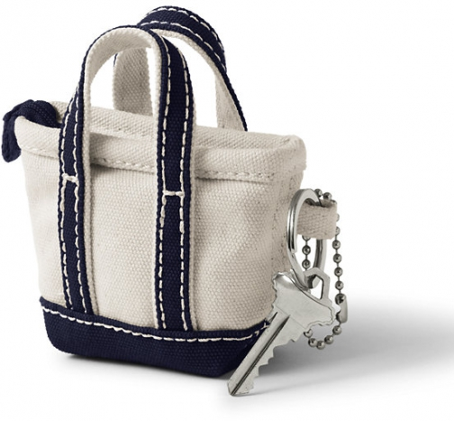 Lands' End Canvas Keychain - Lands' End - Ivory Tote