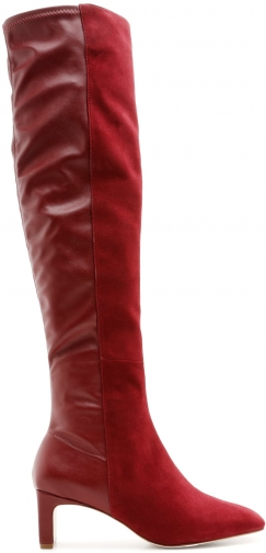 Schutz Shoes Donata - 5 Rosewood Suede & Leather Boot