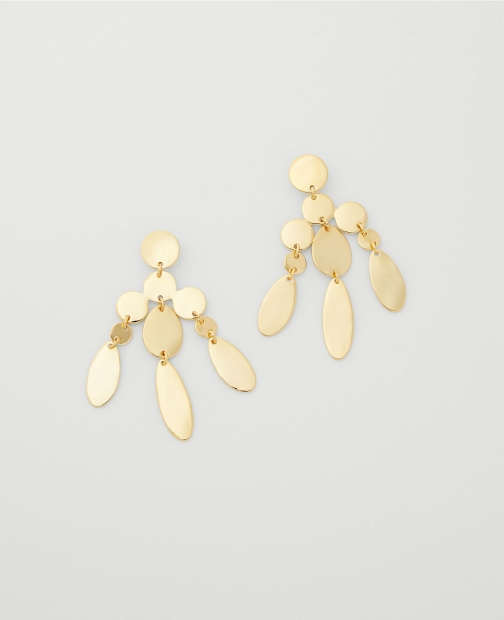 Ann Taylor Metal Tiered Statement Earring