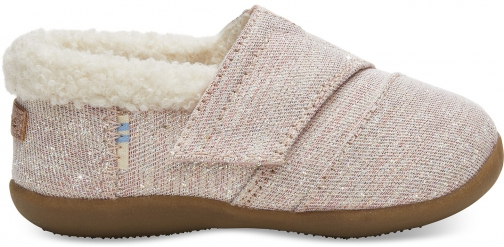 Toms Rose Cloud Glimmer Tiny TOMS House Slippers