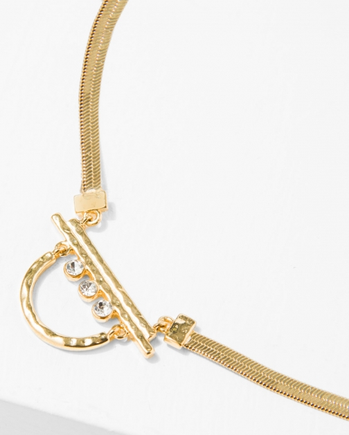 7 For All Mankind The 2 Bandits Glacier Gold Necklace