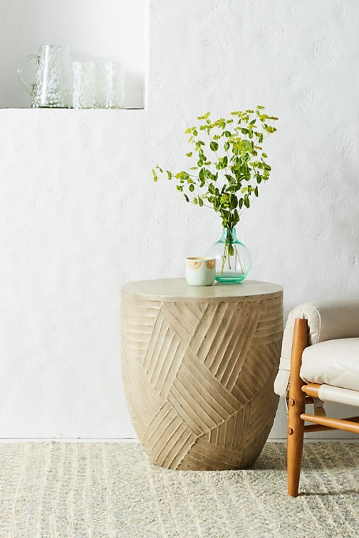 Anthropologie Paje Side Table - Beige Accessorie