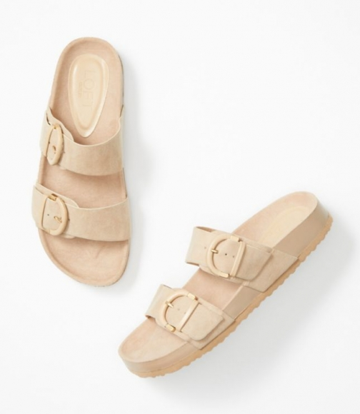 Loft Double Buckle Slide Sandals