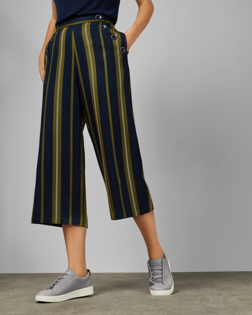 Ted Baker Striped Cotton Trousers Trouser