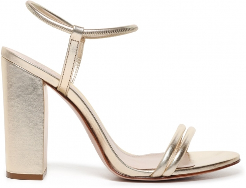 Schutz Shoes Gimenez Sandal - 6.5 Platina Gold Metallic Leather Sandals