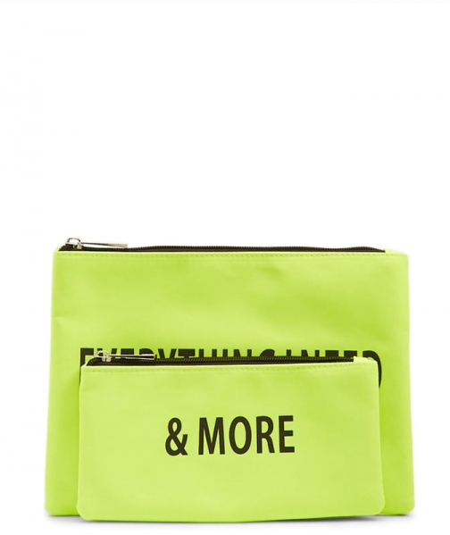 Forever21 Forever 21 Everything I Need Graphic Set , Neon Green Pouch