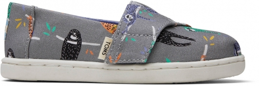 Toms Sloths Canvas Tiny TOMS Classics Slip-On Shoes
