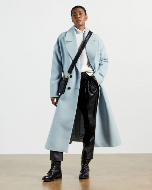 Ted Baker Double Breasted Longline Coat Jacket