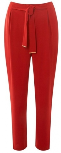 Dorothy Perkins Womens Red Metal Belted Joggers- Orange, Orange Athletic Pant
