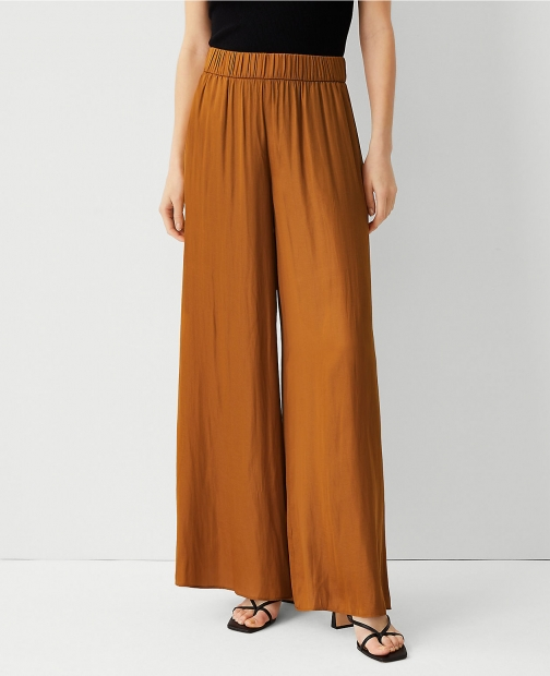 Ann Taylor The Pull On Palazzo Pant Trouser
