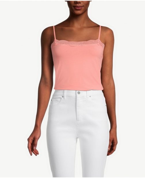 Ann Taylor Factory Lace Trim Cami Top