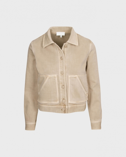 7 For All Mankind Womens Triple Stretch Crop Sand Size: XS Jacket