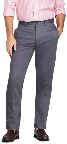 Lands' End Men's Traditional Fit No Iron Pants - Lands' End - Gray - 31 Chino