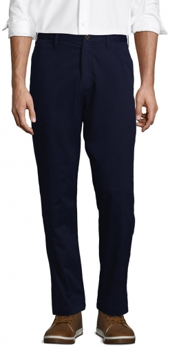 Lands' End Men's Stretch Traditional Fit Flannel Lined Knockabout Pants - Lands' End - Blue - 30 Chino