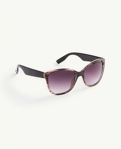 Ann Taylor Striped Square Sunglasses