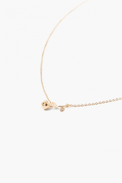 Forever21 Rose Charm At Forever 21 , Gold Necklace