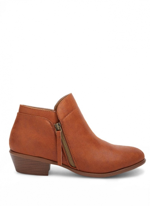 Forever21 Forever 21 Faux Leather Ankle Booties Tan Boot