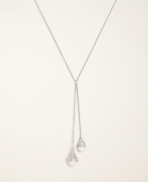 Ann Taylor Pearlized Pave Tulip Pendant Necklace
