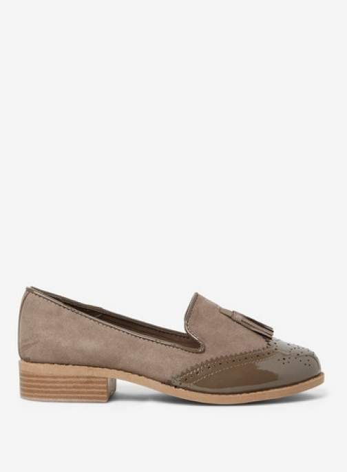 Dorothy Perkins Womens Wide Fit Taupe 'Libra' - Blush, Blush Loafer