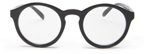 Forever21 Forever 21 Solid Round Readers Black/clear Eyewear