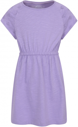 Mountain Warehouse Meadow Kids Embroidered Organic - Purple Dress