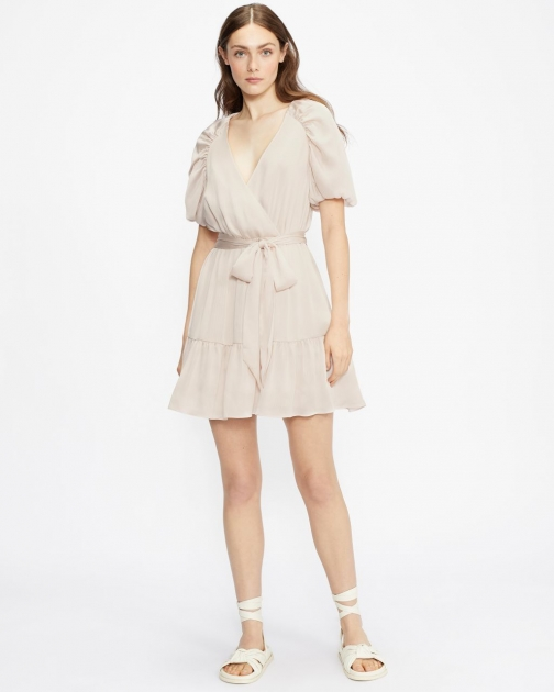 Ted Baker Puff Sleeve Faux Wrap Dress